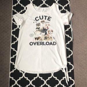 Girls Justice Cold Shoulder shirt size18